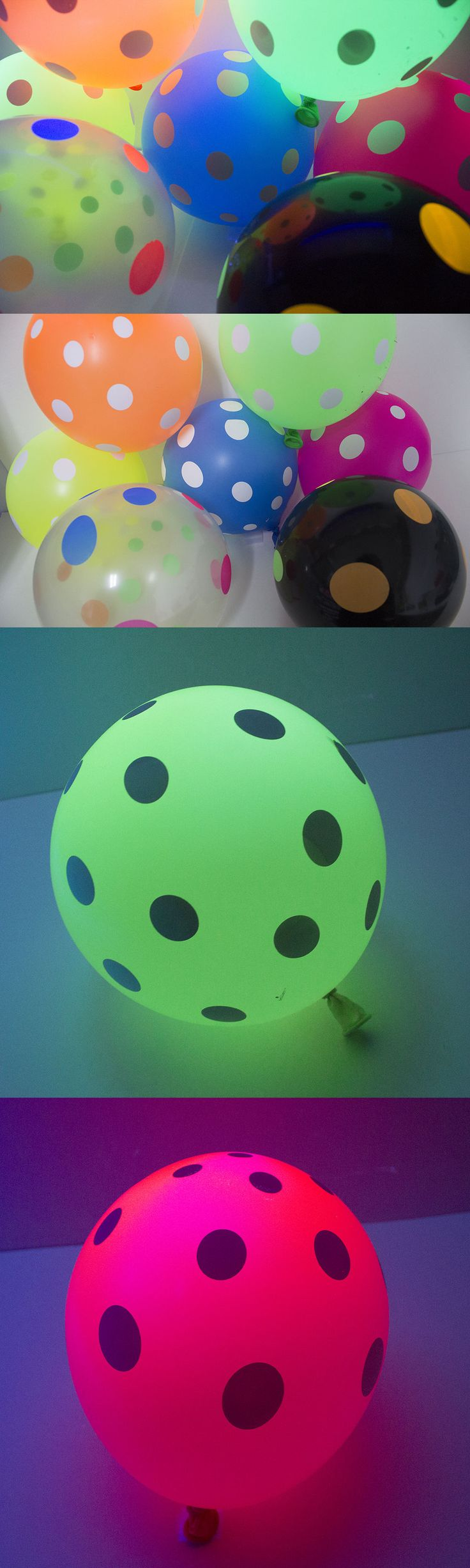 Other Kids and Teens Items 176989: Neon Black Light Uv Balloons Polka Dot 100 Count, 7 Assorted Colors Latex Helium -> BUY IT NOW ONLY: $38 on eBay!
