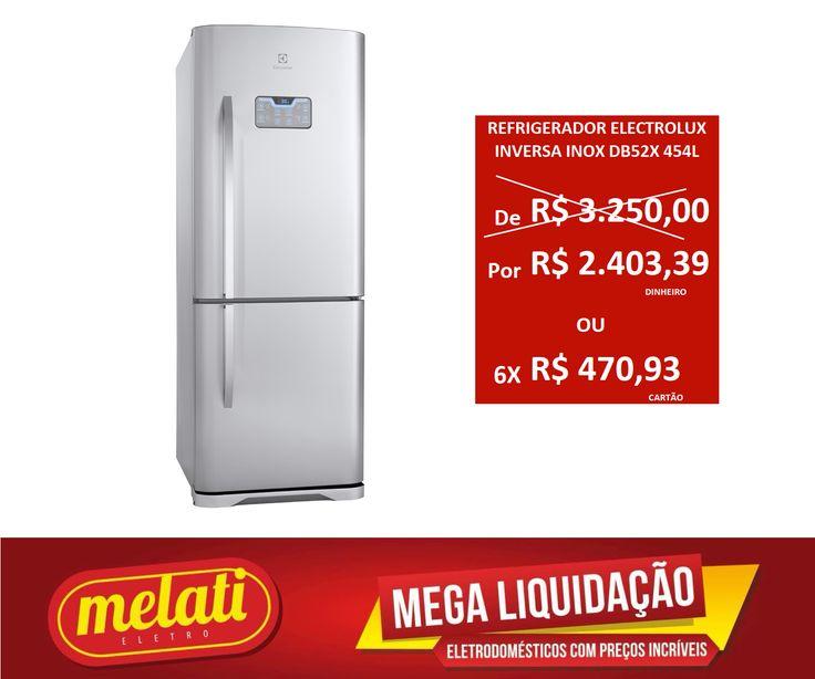 SALDÃO REFRIGERADOR ELECTROLUX INVERSA INOX DB52X 454 LITROS ========================================== CLASSIFICAÇÃO DO PRODUTO SALDO => https://www.melatieletro.com.br/pagina/nossos-produtos.html  ==========================================  📌 ❶ A͟͟N͟͟O͟͟ D͟͟E͟͟ G͟͟A͟͟R͟͟A͟͟NT͟͟I͟͟A͟͟ CONTRA DEFEITO FUNCIONAL  ==========================================  🚛 F͟͟R͟͟E͟͟T͟͟E͟͟ G͟͟R͟͟A͟͟T͟͟I͟͟S͟͟ consulte as regras do frete grátis ==========================================  📍ENDEREÇO DA LOJA…