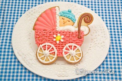 Имбирное печенье на крестины для девочки: фото