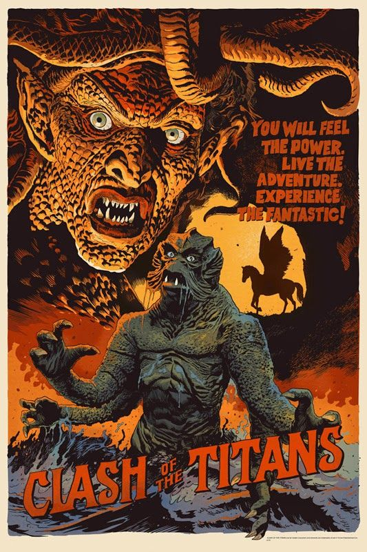 Clash of the Titans - movie poster - Francesco Francavilla