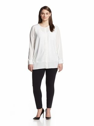 68% OFF Calvin Klein Plus Women's Perforated Tunic (Winter White)