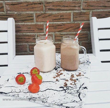 Aardbei/chocolade milkshake