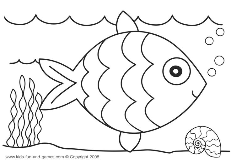 crepe paper collage rainbow fish craft - Rainbow Fish Coloring Pages
