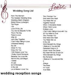 if you are a devoted to christ are i suppose that you played would best wedding reception songswedding