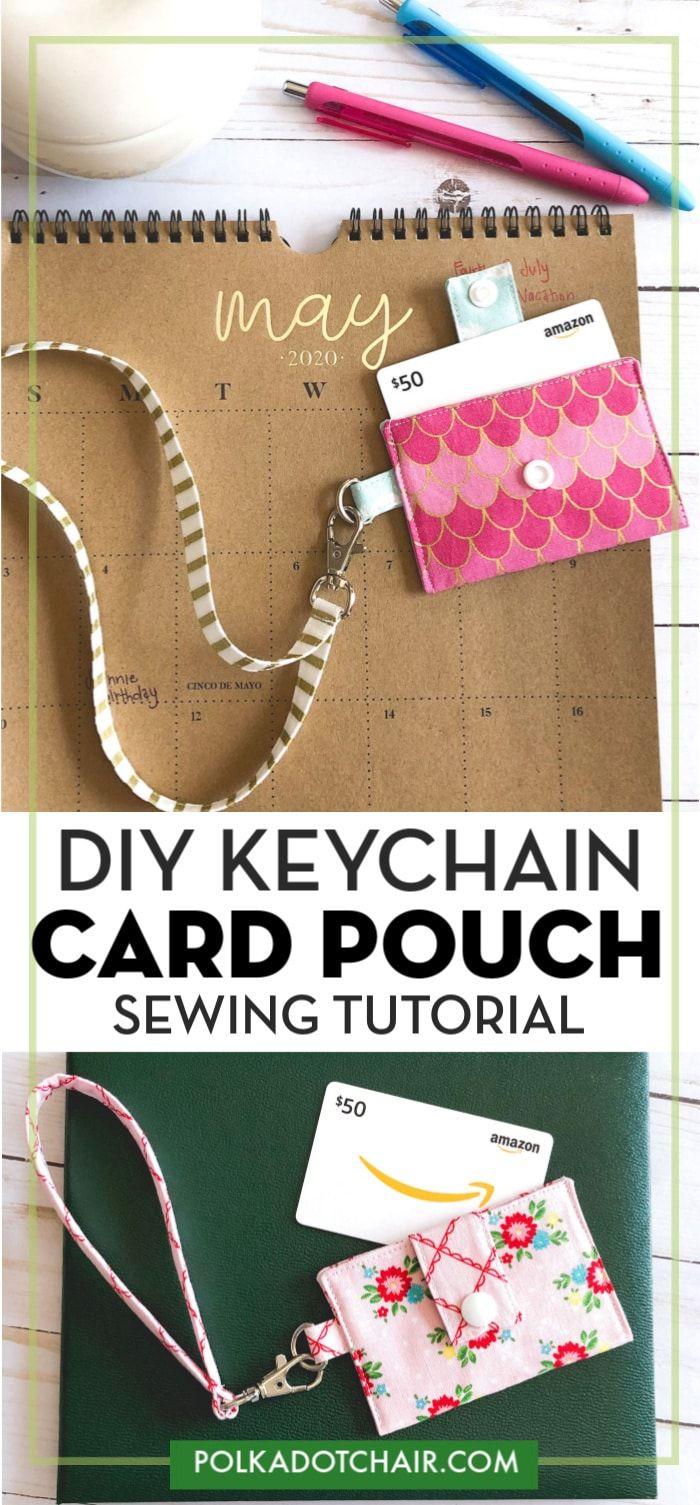 Diy Keychain Card Holder Tutorial Diy Keychain Diy Gift Card Gift Card Holder Diy