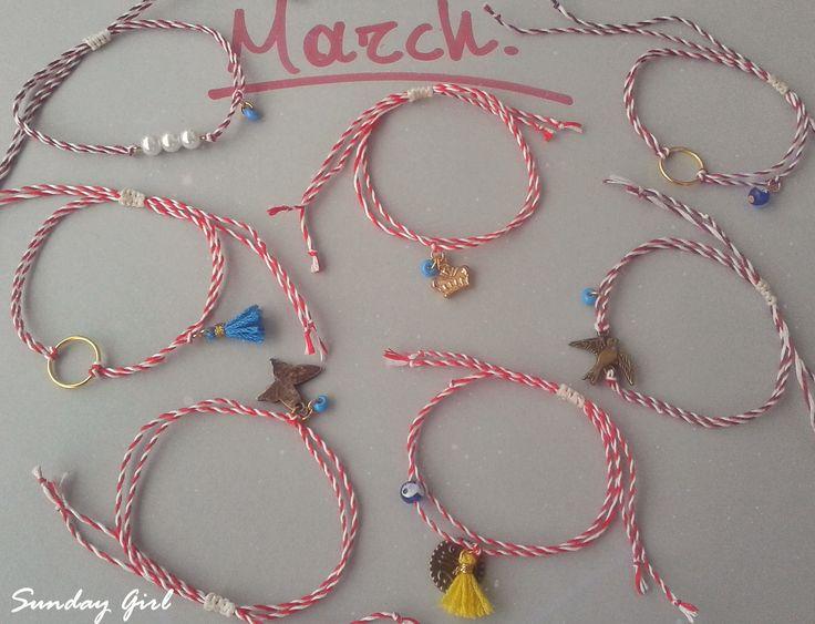 Handmade Martis Μάρτης Μαρτάκια March bracelet Martakia