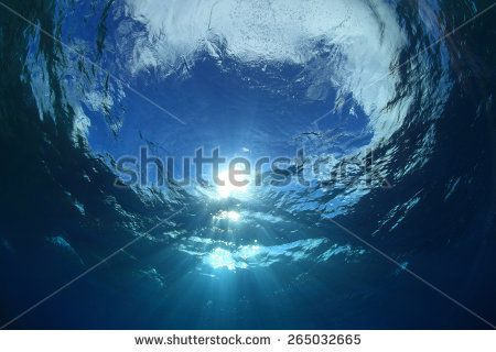 Water surface and sunlight in the ocean