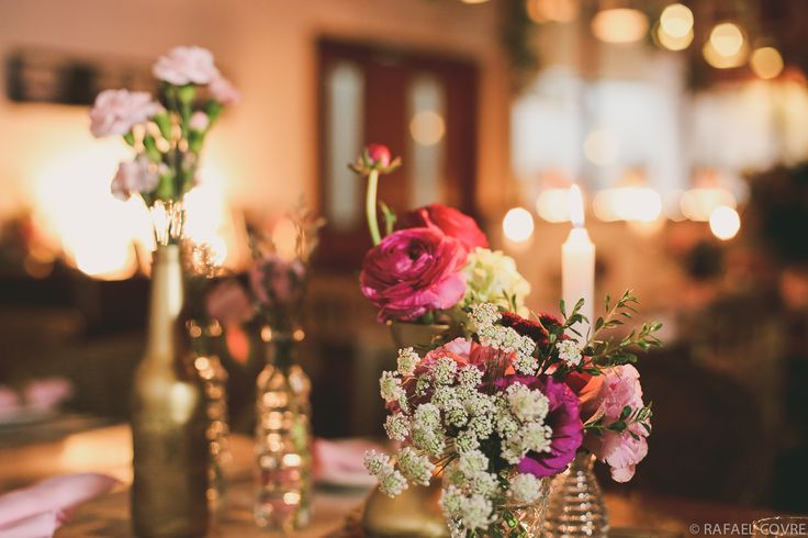 wedding shabby chic + pink and gold
