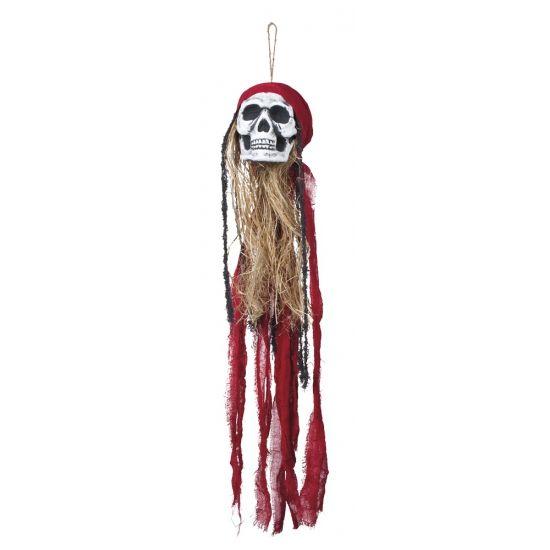 Hangdecoratie piraat schedel 90 cm  Hangdecoratie piraat schedel 90 cm. Dit hangdecoratie piraten schedel heeft een formaat van ongeveer 90 x 17 cm.  EUR 12.50  Meer informatie