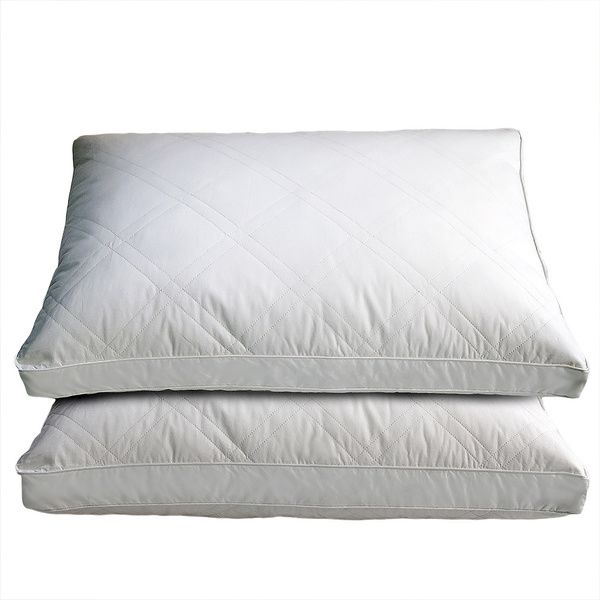 With a high thread count and a goose-feather fill, this pair of luxurious pillows offers both comfort and longevity. Perfect for side sleepers, these medium-firm pillows deliver the necessary softness