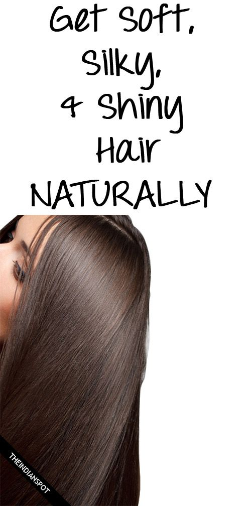 how to make hair silky and shiny at home