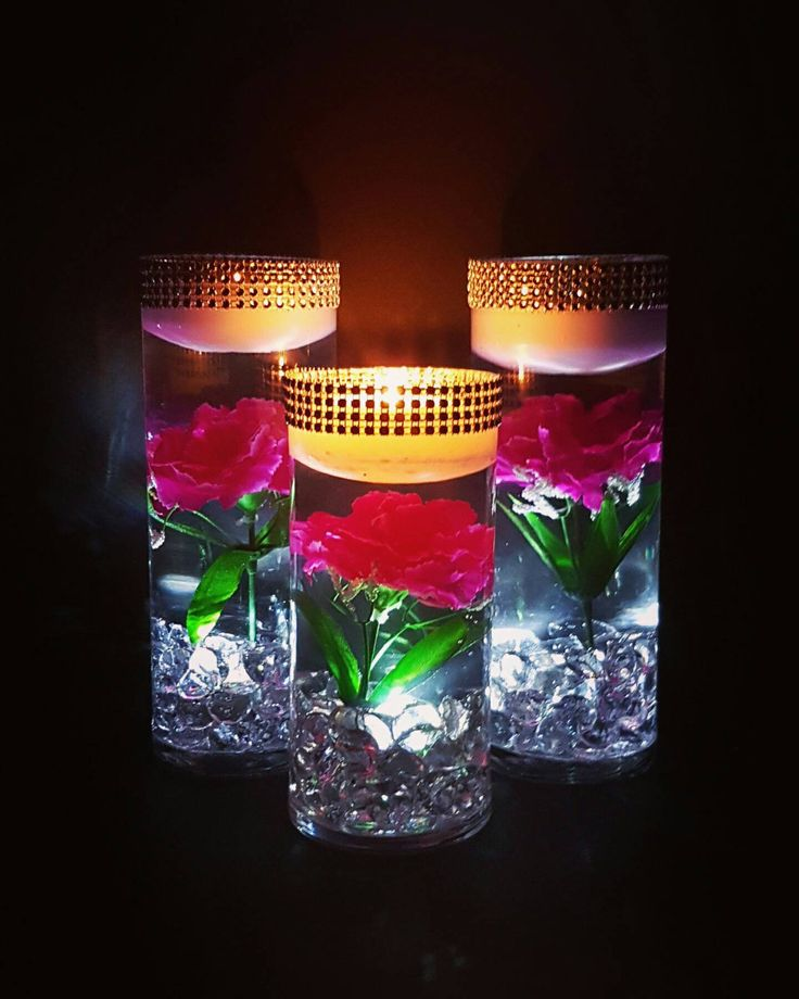Flowers And Floating Candle Centerpieces With Led Lighting: 17 Best Ideas About Floating Flower Centerpieces On