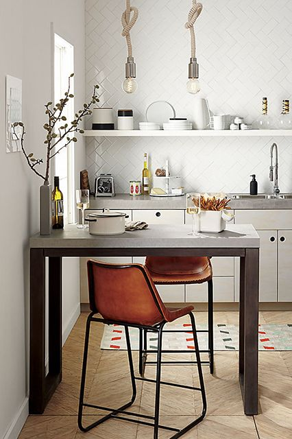 10 Super-Easy DIYs For A Better Apartment #refinery29   Install New Kitchen Lights  Lighting might be the most important facet of any space — bold statement, we know. But, think about how unwelcoming a harsh, fluorescent vibe can be. If your kitchen and eating area are joined, the light you use has to work for both. You need to be able to see what you're chopping, but also have the ambience for a romantic dinner.  Don't have time to ...