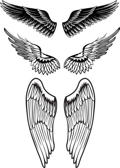 angel wings tattoo designs for men
