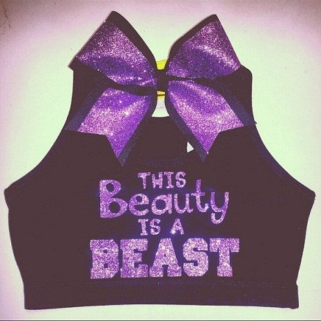 This Beauty Is A Beast Sports Bra with Matching Bow