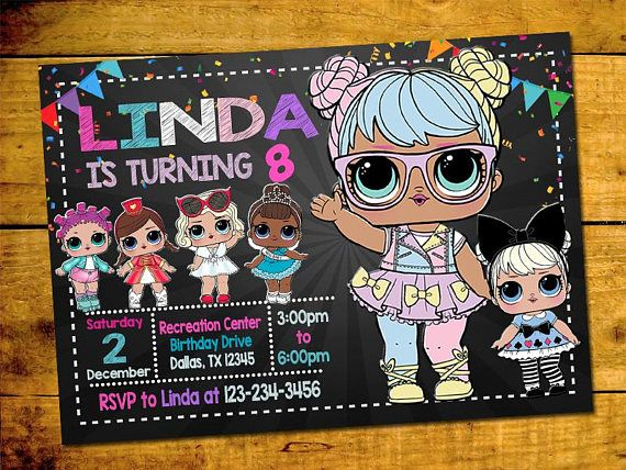 Lol Surprise Doll Party Invitation Hello And Welcome To My Shop