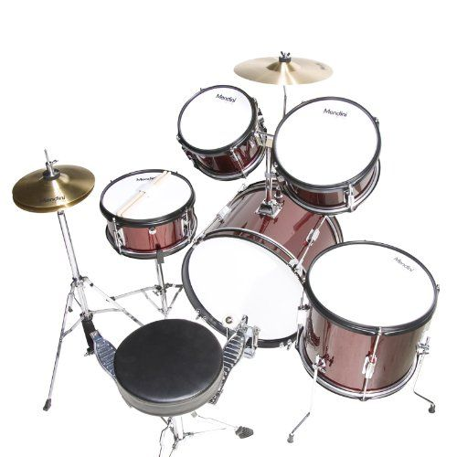 Mendini MJDS-5-WR Complete 16-Inch 5-Piece Wine Red Junior Drum Set with Cymbals, Drumsticks and Adjustable Throne  http://www.instrumentssale.com/mendini-mjds-5-wr-complete-16-inch-5-piece-wine-red-junior-drum-set-with-cymbals-drumsticks-and-adjustable-throne-2/