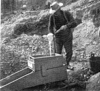 California Gold Rush-Plans to design and build your own gold prospecting equipment. This is an important site because it shows you what their equipment looked like and how to make your own mining equipment in this day and age.