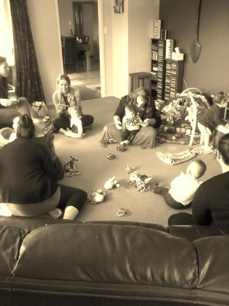 Fun times at coffee group by Kirstin Johnson