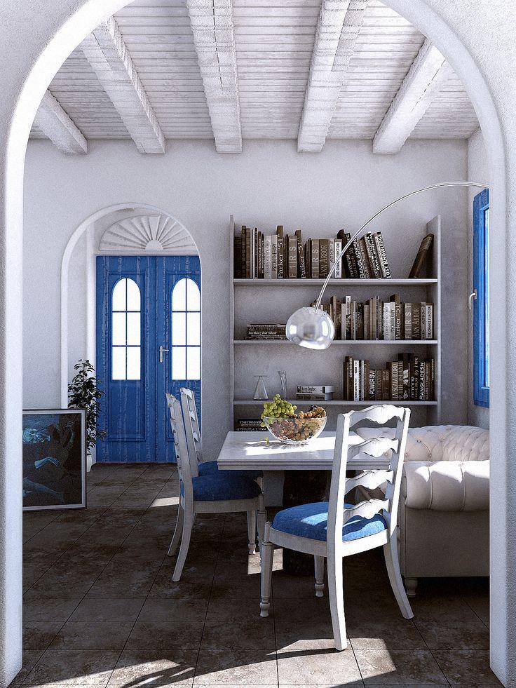 ギリシャの白いインテリアに注目。清潔感のあるシンプルな空間 | iemo[イエモ]