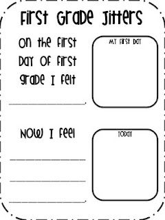 First Grade Fanatics: First Grade Jitters. I read this story on the first day of school each year. So much fun!