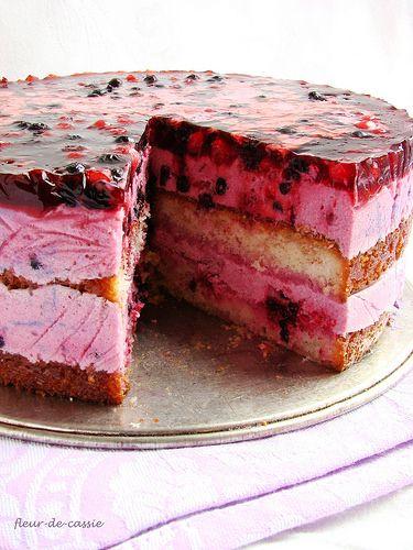 чернично-йогуртовый торт