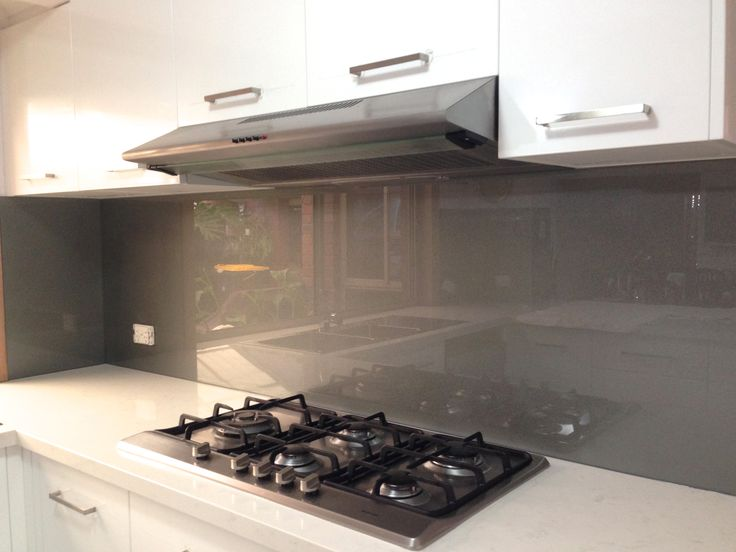 Metallic charcoal coloured glass splashbacks kitchensplashbacks kitchen splashbacks - Splashback alternatives ...