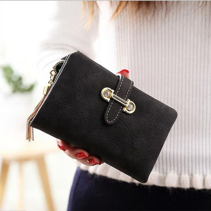Hot Sale Women's purse 7 Colors Soft Matte Suede zipper tassel pendant women's wallet women purses coin purse credit Card Holder
