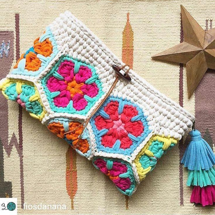 crochelinhasagulh … #diyshirtbag DIY Bag and Purse