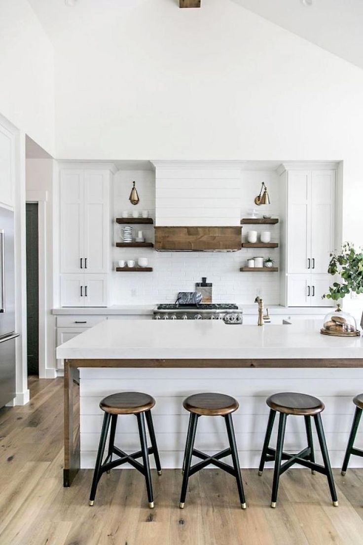 30 Beautiful Modern White Farmhouse Kitchen Ideas
