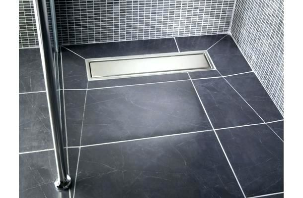 Shower Pan Bathroom Traditional With Barrier Free Beige