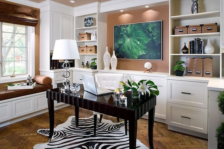 Elegant and refreshing contemporary home office Feng Shui Ideas for a Productive Home Office