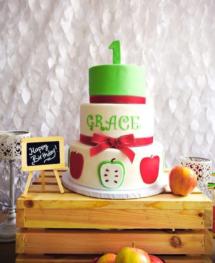 Apple of My Eye themed birthday party via Kara's Party Ideas KarasPartyIdeas.com #appleofmyeye (24)