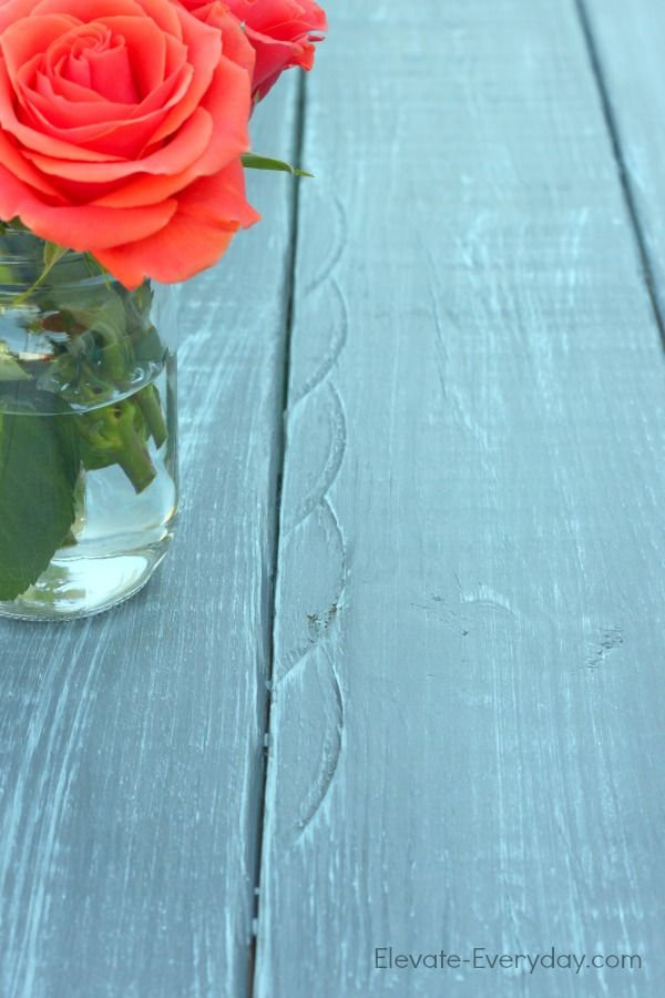Picnic Table Chalk Paint Makeover