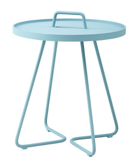 Outdoor living at Beautiful Room. Scandinavian Design. Stunning side tables from Cane Line Australia. So many colours!