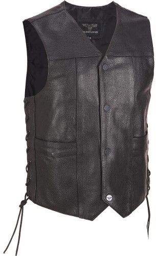 Wilsons Leather Mens Performance Lace-Up Motorcycle Leather Vest