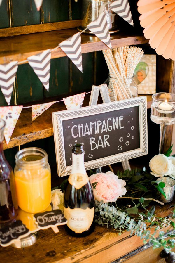 Champagne bar, Carla Boecklin Photography, http://mytrueblu.com/2016/06/23/a-charming-home-french-country-bridal-shower/