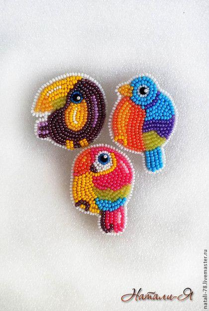 Броши ручной работы. Ярмарка Мастеров - ручная работа. Купить Круглые птички (цена  указана за 1 птичку). Handmade.