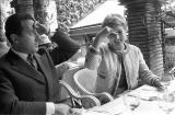 Silvana Mangano (1930-1989) et Alberto Sordi, acteurs italiens. Paris, mai 1960