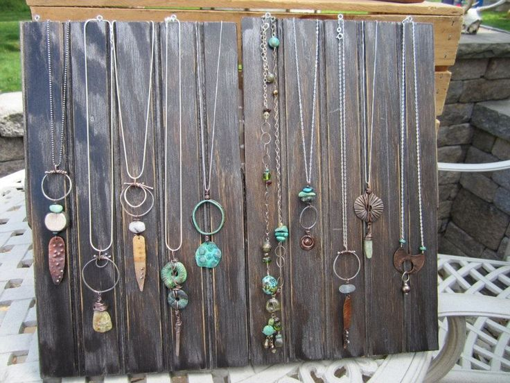 123 best displays images on pinterest display ideas for Display necklaces craft fair