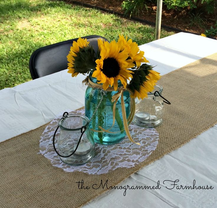 country sunflower tables the 8 best images about ud grad party ideas on pinterest