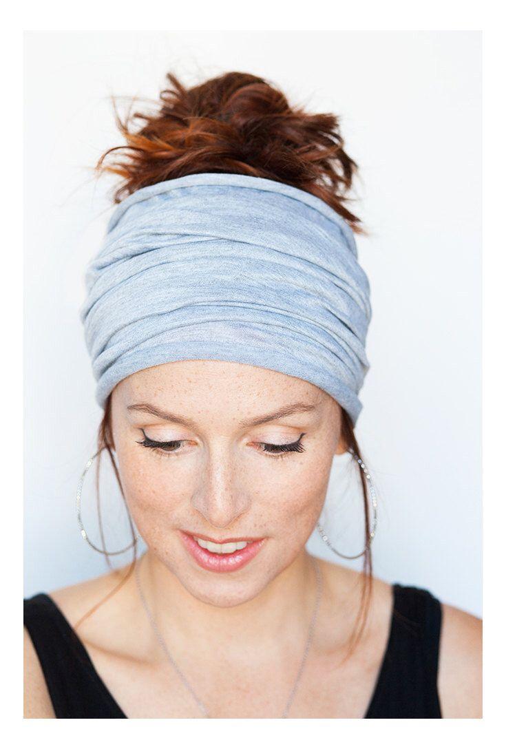 Grey Headband - Grey Headwrap Grey Hairwrap Yoga Headband Workout Headband Boho Headband Bohemian Headband Turban Etsy Finds Fitness Running by MinitaStudio on Etsy https://www.etsy.com/listing/225753779/grey-headband-grey-headwrap-grey