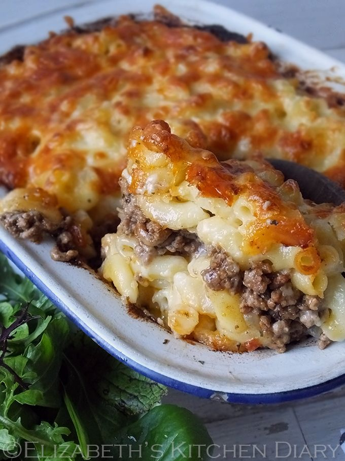 Pastitsio – Greek Macaroni Pie - layers of ooey gooey macaroni cheese sandwiching a toasted cumin spiced lamb mince. You'll want seconds!