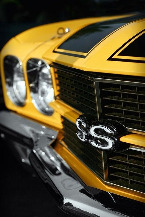 1970 Chevelle SS 396 Yellow - one of the most collectable chevys. Love the  car but hate the color