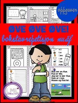 Her får du flere øveark til bokstavene nuåf. Elevene får øvelse i finmotorikk, bokstavforming (store og små), plassering i bokstavhus, utlyttning av lyder, skrive småord, lese småord og enkle setninger. Flere av arkene har tegninger både i full farge, og i svart/hvit så elevene kan farge selv.