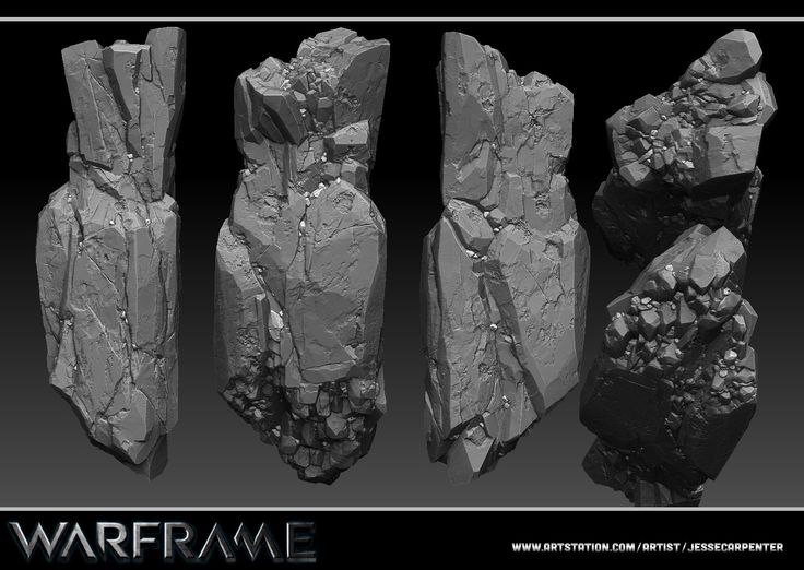 Rock Pillar Sculpt - Warframe, Jesse Carpenter on ArtStation at https://artstation.com/artwork/rock-pillar-sculpt-warframe