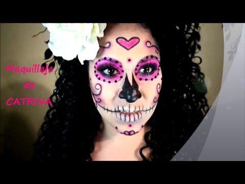 Maquillaje de CATRINA super facil!!!! halloween - YouTube