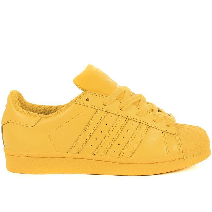adidas superstar jaune fluo