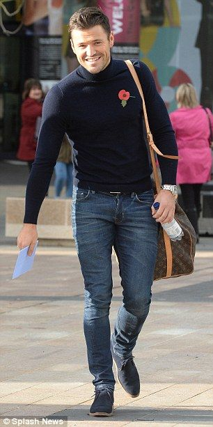 Mark Wright - Navy turtleneck jumper, good jeans and navy suede boots