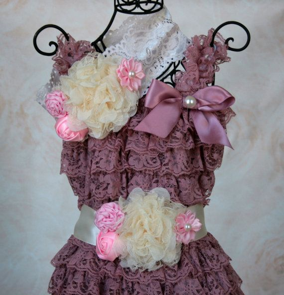Baby Lace Romper Set, Spring Romper, Romper Outfit , Vintage Pink Petti Lace Romper Set,Photo Prop, Smash Cake Outfit, First Birthday Outfit